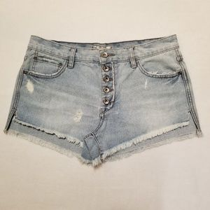 Free People High Waisted Jean Shorts Size 28